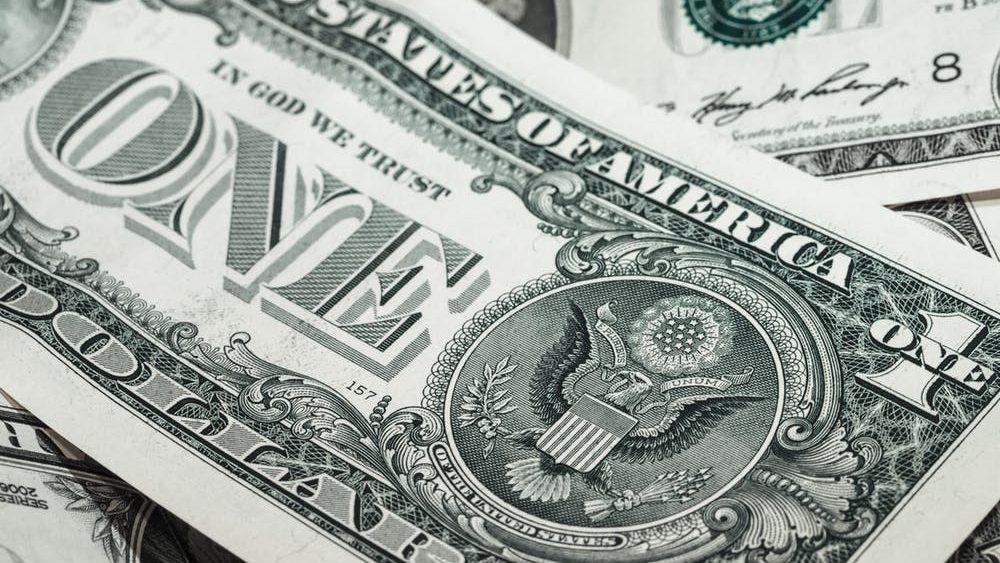 A photo of american dollar bills