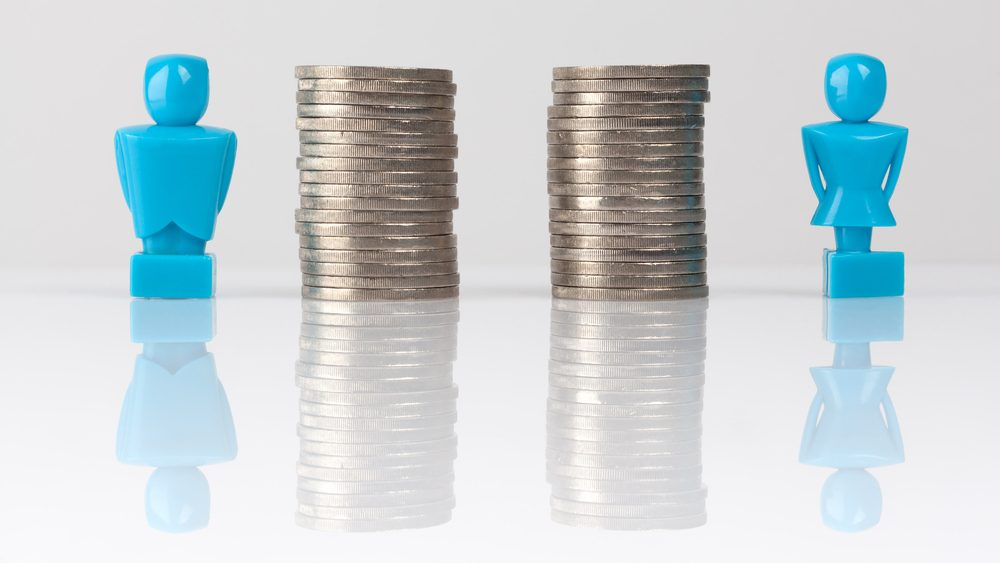 Image representing pay equity between men and women