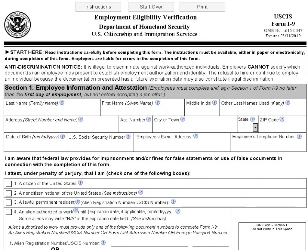 New I-9 Form | Connecticut's Lawyers for Employers