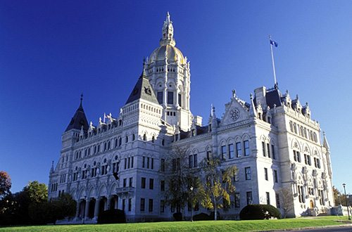 The capitol building in Hartford, CT