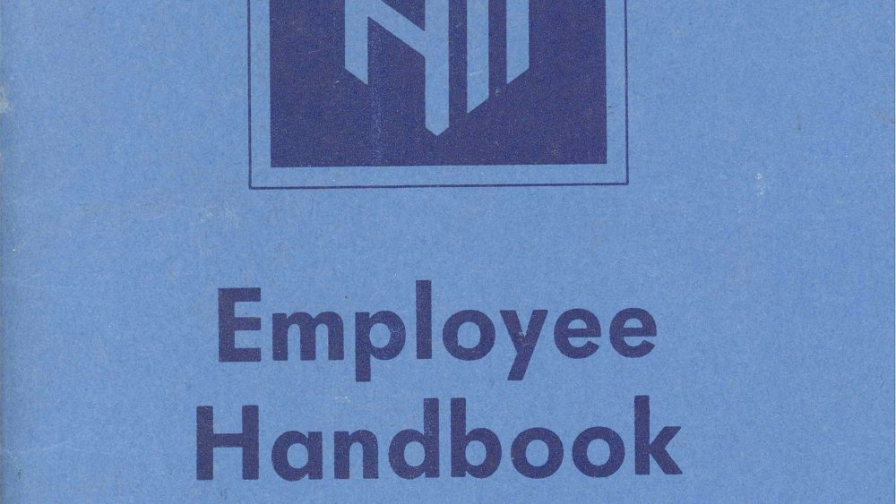 Picture of an employee handbook