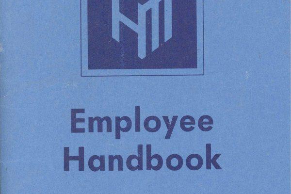 Picture of an employee handbook