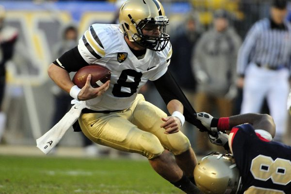 Football player running with the ball