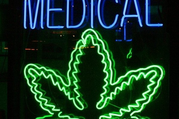 A medical marijuana sign