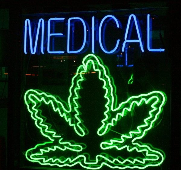 A medical marijuana sign