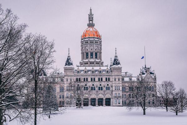 The Hartford, Connecticut capitol building.