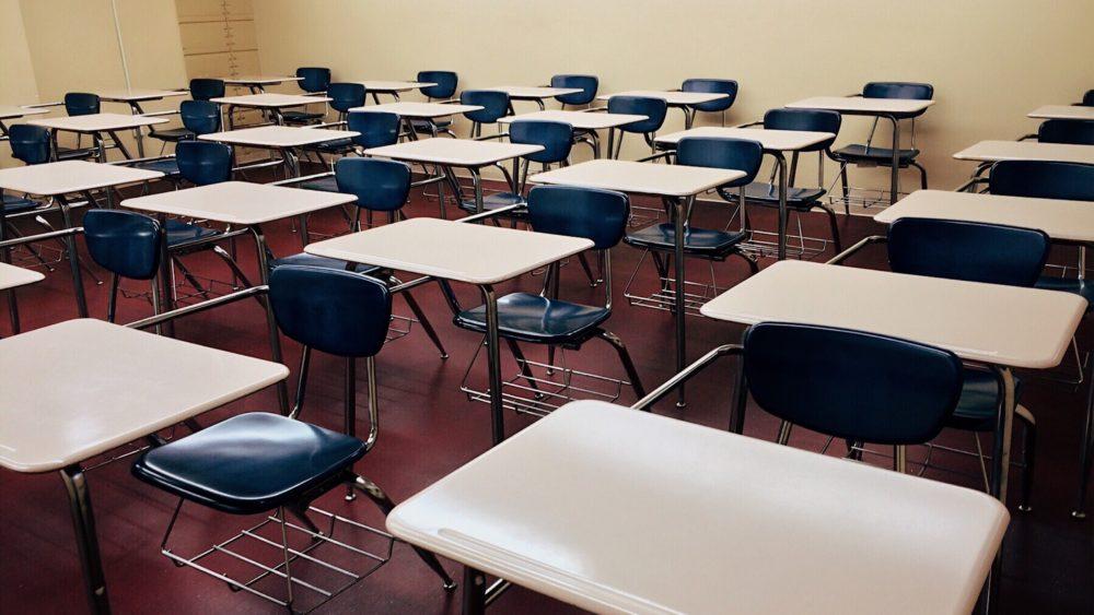 Classroom full of desks