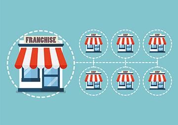 Illustration of franchise businesses.